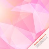 Vector abstract background. Polygon pink and card Stock Photos
