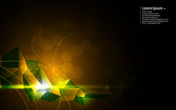 Vector abstract background polygonal pattern digital tech innovation concept Stock Images