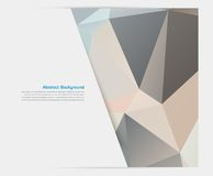 Vector abstract background. Polygonal pattern Royalty Free Stock Images