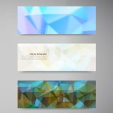 Vector abstract background. Polygonal pattern Stock Image