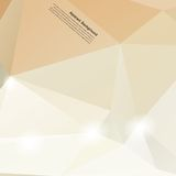 Vector abstract background. Polygonal pattern and Royalty Free Stock Photography