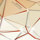 Vector abstract background. Polygonal pattern and Stock Photos