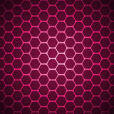 Vector abstract background. Purple vector abstract hexagon background pattern Royalty Free Stock Photography