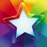 Vector abstract background in rainbow colours Stock Photography