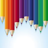 Vector abstract background with rainbow pencils Stock Photography