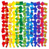 Vector abstract background - rainbow squares randomly arranged Stock Images