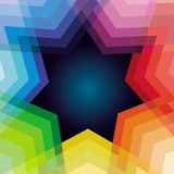 Vector abstract background with rainbow and star Royalty Free Stock Images