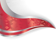 Vector abstract background in red color Stock Photography