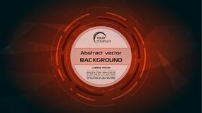 Vector abstract background with red HUD circle. EPS10 stock illustration