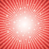 Vector abstract background of red star burst. Eps 10 Stock Photo