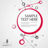 Vector abstract background for sample text Royalty Free Stock Photos