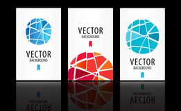 Vector abstract background set Royalty Free Stock Photos