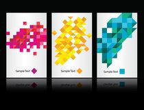 Vector abstract background set Royalty Free Stock Image