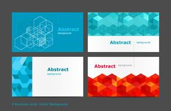 Vector abstract background set Royalty Free Stock Images