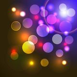 Vector abstract background with shiny colored ligh Royalty Free Stock Photography