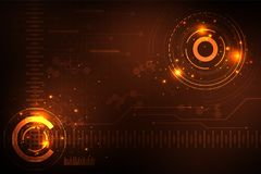 Vector abstract background in the concept of technology. Vector abstract background shows the innovation of technology and technology concepts Royalty Free Stock Photography