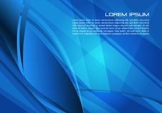 Vector abstract background with spiral in blue color. EPS10 Stock Images