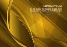 Vector abstract background with spiral in gold color. EPS10 Royalty Free Stock Image