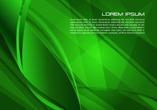 Vector abstract background with spiral in green color. EPS10 Stock Photography