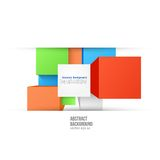 Vector abstract background. Square color and Royalty Free Stock Photography