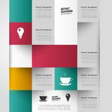 Vector abstract background. Square color Stock Photos