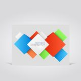 Vector abstract background. Square 3d object. Vector abstract background. Square and 3d object Stock Photo