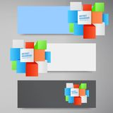 Vector abstract background. Square 3d object Royalty Free Stock Images