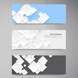 Vector abstract background. Square and 3d object. This is file of EPS10 format stock illustration