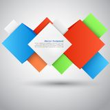 Vector abstract background. Square and 3d object. This is file of EPS10 format Royalty Free Stock Photos