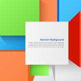 Vector abstract background. Square and 3d object. This is file of EPS10 format Royalty Free Stock Image