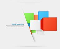Vector abstract background. Square and 3d object Royalty Free Stock Photos