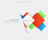 Vector abstract background. Square and 3d object Stock Image