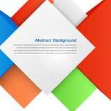 Vector abstract background. Square and 3d object Royalty Free Stock Photo