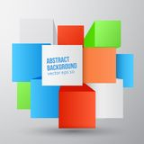 Vector abstract background. Square and 3d object. This is file of EPS10 format Royalty Free Stock Photo