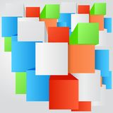 Vector abstract background. Square and 3d object Stock Photo