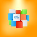Vector abstract background. Square and 3d object. This is file of EPS10 format Royalty Free Stock Images