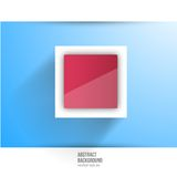 Vector abstract background. Square red. And 3d object Stock Images