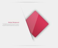 Vector abstract background. Square red. And 3d object Royalty Free Stock Photography