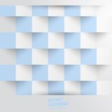 Vector abstract background. Square white blue Stock Photo