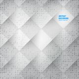 Vector Abstract background. Squares white Stock Image