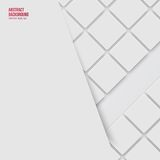 Vector Abstract background. Squares white Stock Photography
