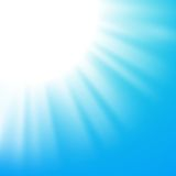 Vector abstract background with sun on blue sky Royalty Free Stock Photography