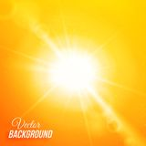 Vector abstract background with sun and lens Royalty Free Stock Image