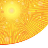 Vector abstract background. Sun rays. Sunlight. Stock Image