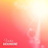 Vector abstract background with sun and Royalty Free Stock Images