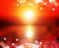 Vector abstract background (sunset) Royalty Free Stock Photos