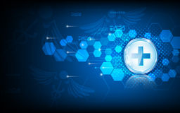 Vector abstract background tech innovation medical health care concept Stock Images