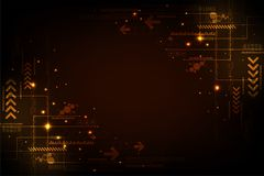 Vector abstract background technology circuit design. Vector abstract background shows the innovation of technology and technology concepts stock illustration