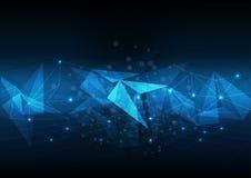 Vector abstract background technology electronic illustration po. Lygonal data Stock Illustration