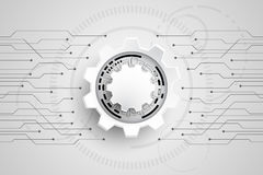 Vector abstract background technology gears concept. Vector abstract background shows the innovation of technology and technology concepts stock illustration
